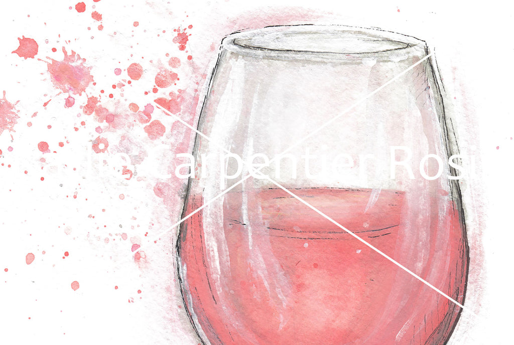Rosé All Day | Rosé Wine Illustration | 8x10