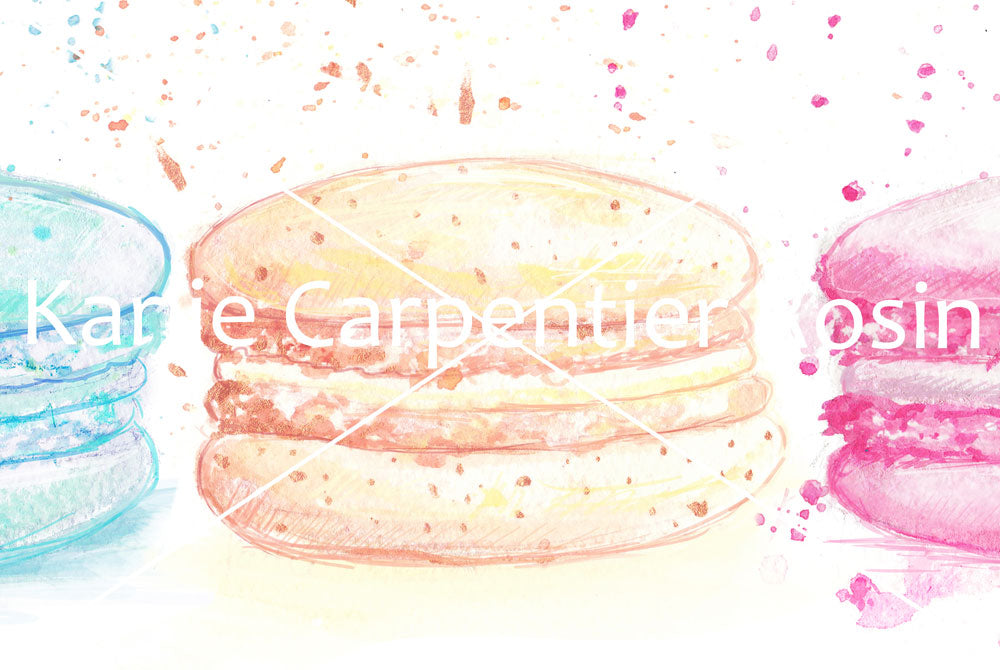 Side by Side Macaron Art | Macaron Illustration | 4.5x6, 8x10, 11x14