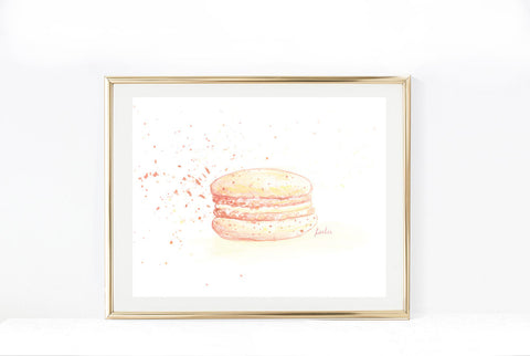 Teel Macaron Art Print | Neutral Tones  Illustration | 5x7, 8x10, 11x14