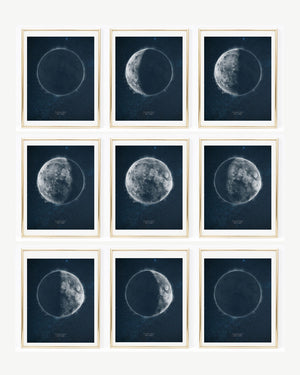 Custom Moon Phase | Personalized Lunar Phase Art | 8x10, 11x14