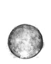Water Colour Moon Art | Light Pink Monochrome Moon | 8x10, 11x14