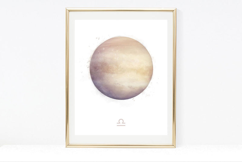 Libra Zodiac Sign | Zodiac Art Print Collection | Astrology Libra Art Wall Decor | 8x10, 11x14