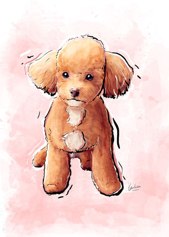 No Matching Socks, Dog Illustration | Pawsitive Wishes Collection } 5x7, 8x10. 11x14