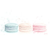 Side by Side Macaron Art | Muted Colours Illustration | 5x7, 8x10, 11x14