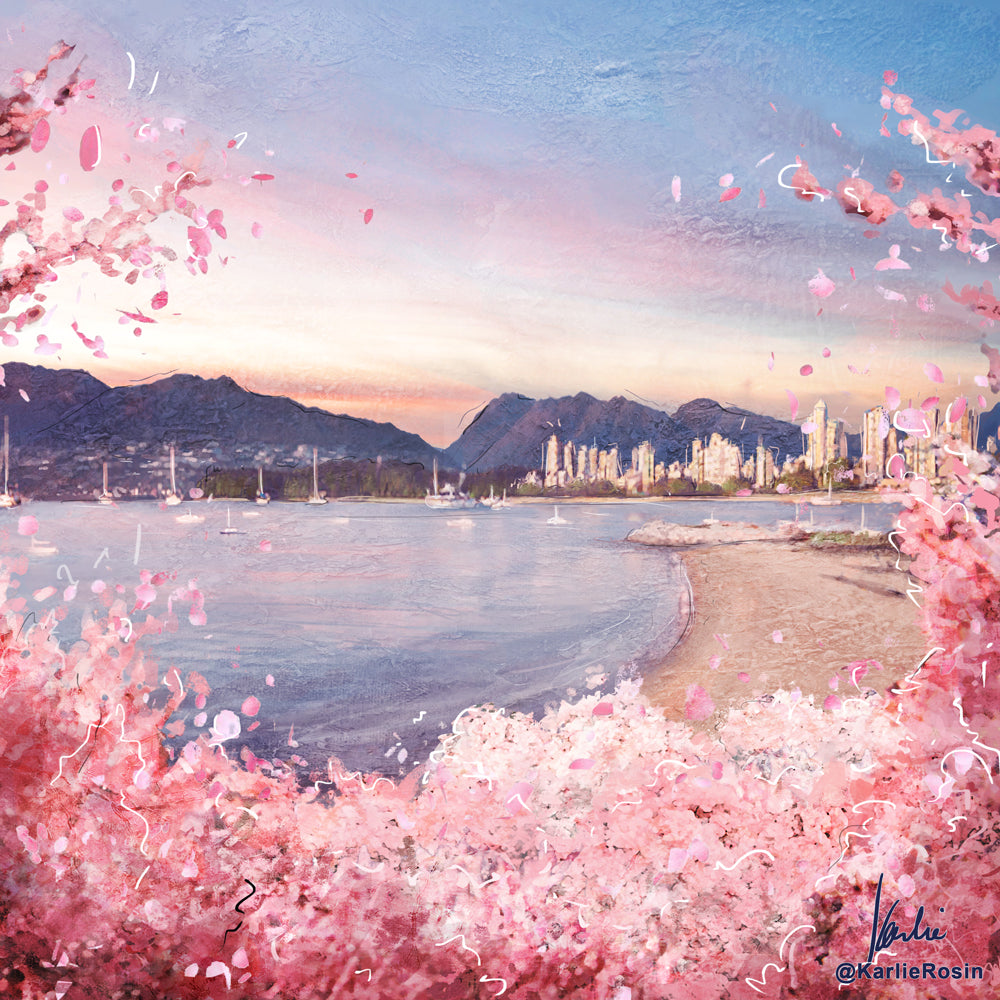 Vancouver Cherry Blossom Art Print | Isolation Edition 2020  | 11x14, 8x10