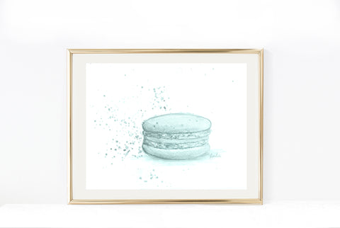 Stacked Macaron Art Print | Neutral Tones Illustration | 5x7, 8x10, 11x14