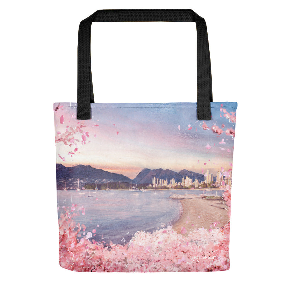 Vancity Bloomies Tote Bag | Isolation Edition 2020 | British Columbia Artwork | Kitsilano Views
