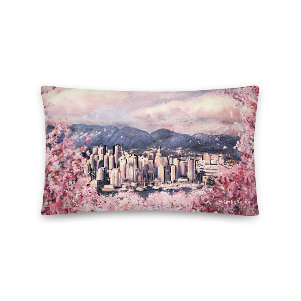Vancity Bloomies 1st Edition Throw Pillow