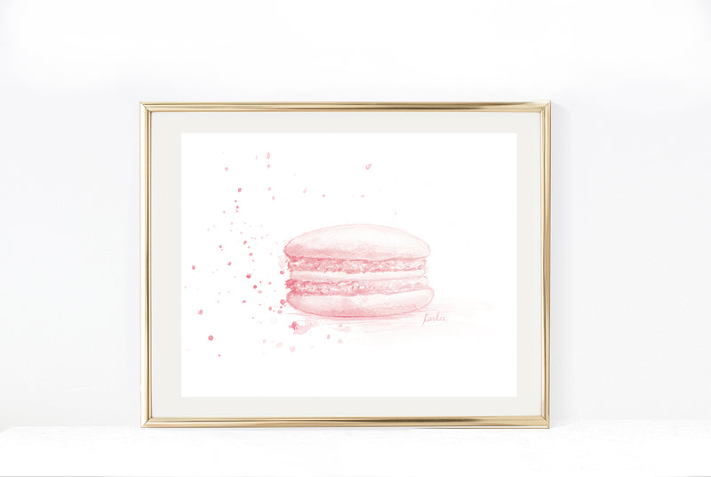 Pink Macaron Art Print | Neutral Tones  Illustration | 5x7, 8x1, 11x14