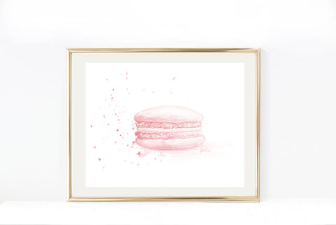 Pink Doughnut Art Print | Donut Illustration | 4.5x6, 8x10, 11x14