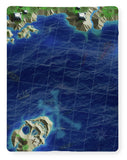 Skull Island Pirate Treasure Map - Blanket