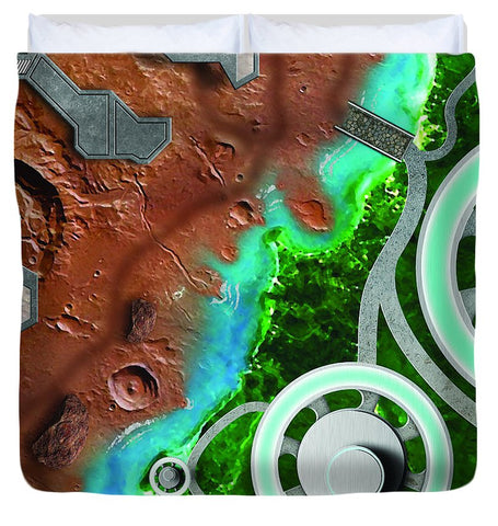 Space Battle Action Figure Play Area - Duvet Cover