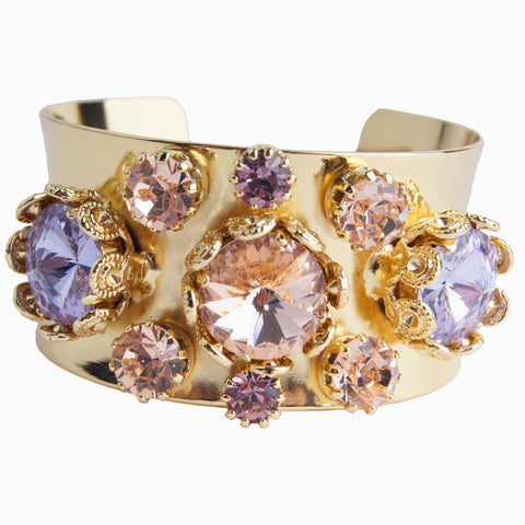 Floral Filigree Bangle Violet