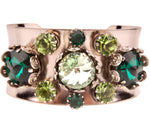 Floral Filigree Bangle Emerald