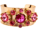 Floral Filigree Bangle Pink
