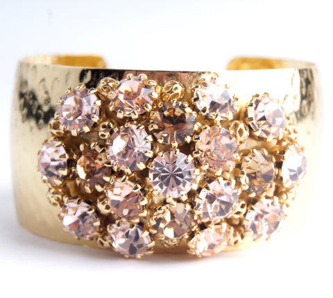 Crystal Dome Bangle Light Rose