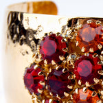 Crystal Dome Bangle Royal Red