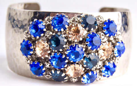 Crystal Dome Bangle Sky Blue