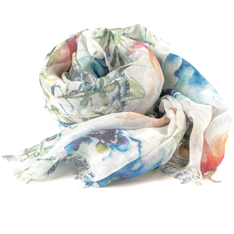 Bamboo Foulard Colorful Flowers