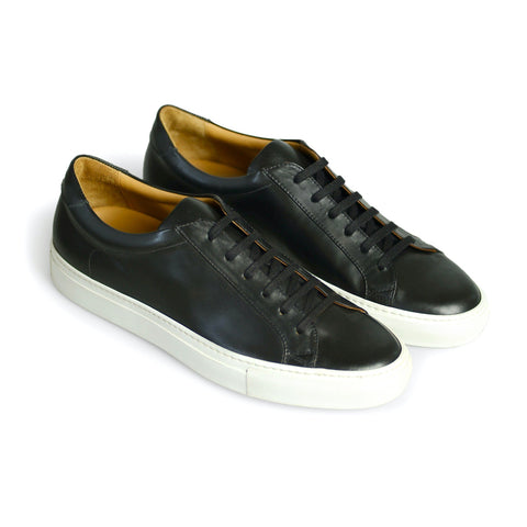 Bespoke Calf Leather Sneakers Black