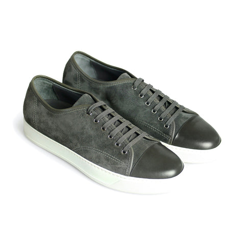 Bespoke Suede Leather Sneakers Dark Grey
