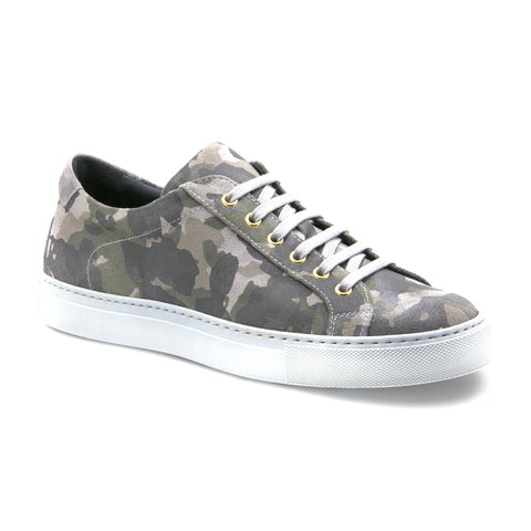 Bespoke Leather Sneakers Army