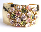 Crystal Dome Bangle Rose Green