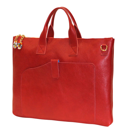 Woman Briefcase Red