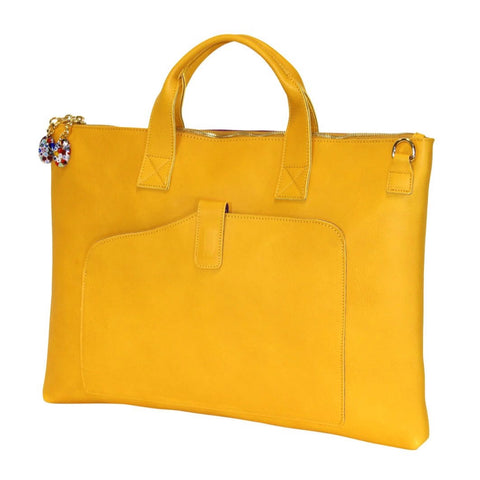 Woman Briefcase Yellow