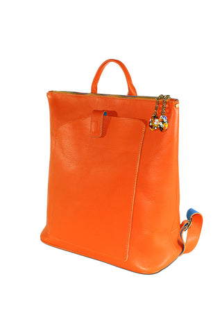 Woman Back Pack Orange