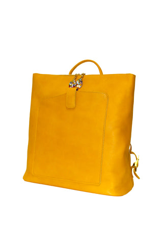 Woman Back Pack Yellow