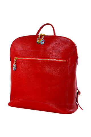 Woman Back Pack Red