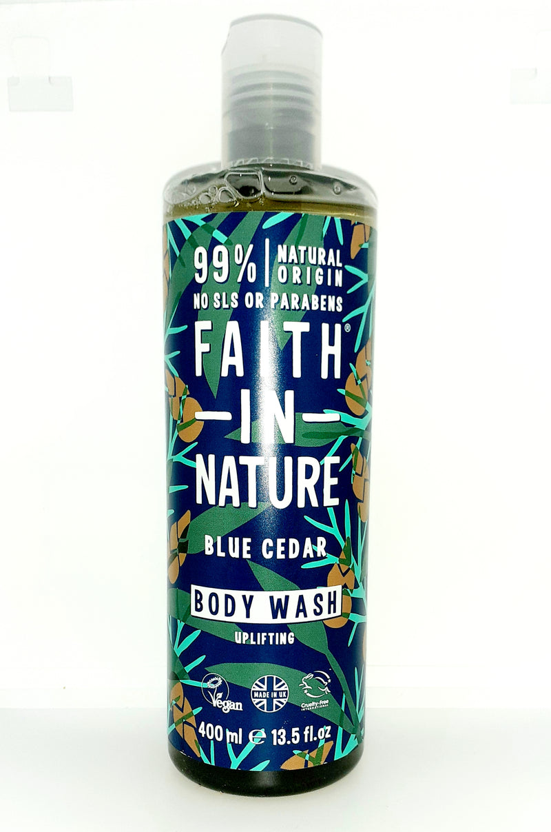 Faith in nature blue cedar bodywash uplifting