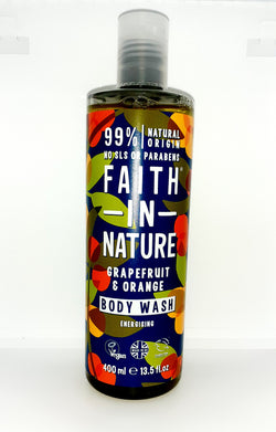 Faith in nature grapefruit and orange body wash energizing 400ml