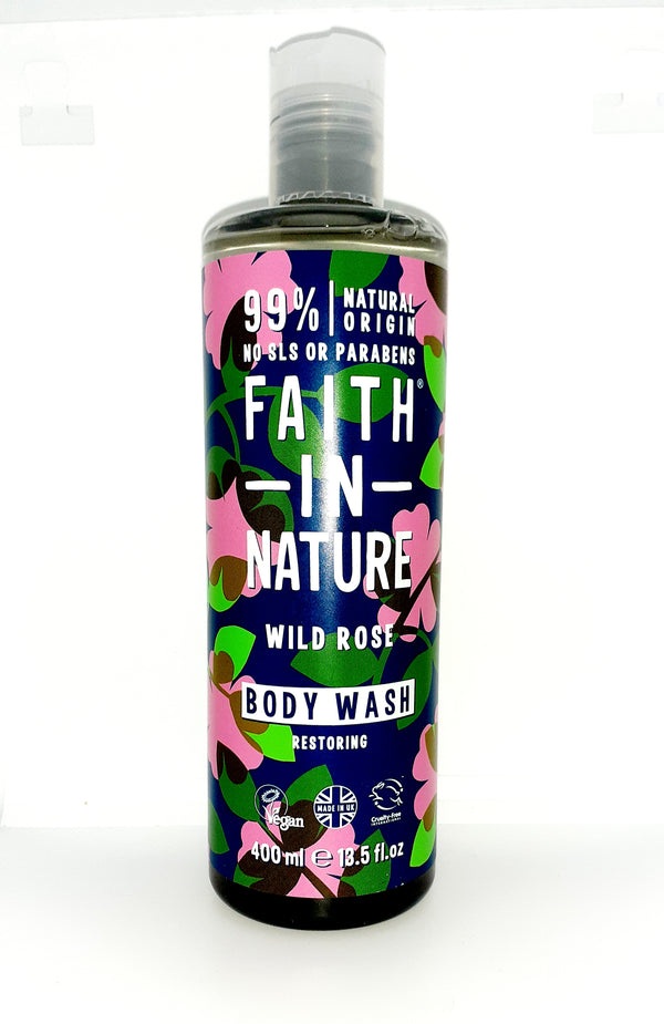 Faith in nature wild rose body wash restoring 400ml