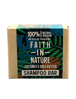 Faith in nature coconut and shea butter shampoo bar