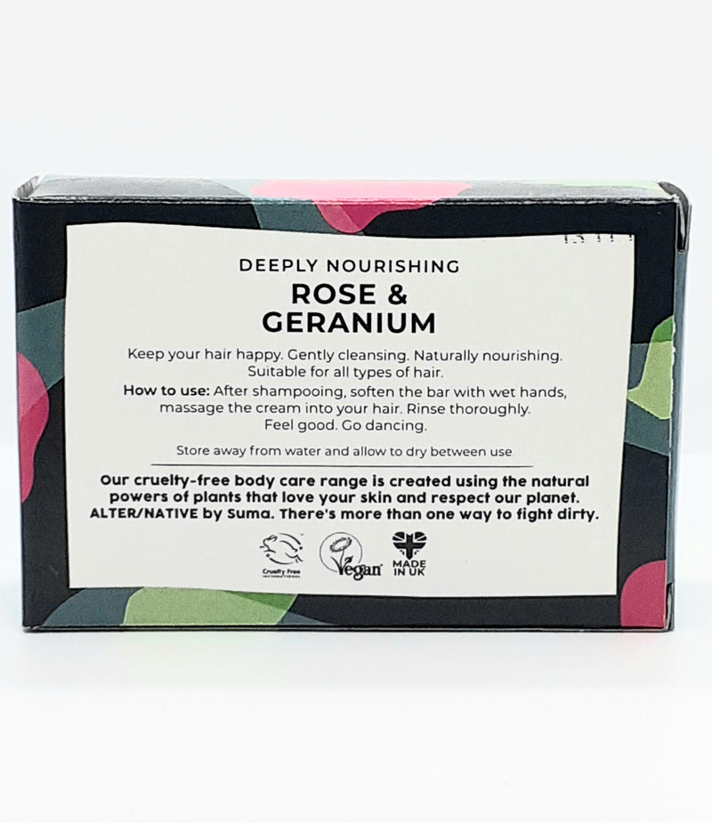Alter/native conditioner bar rose and geranium