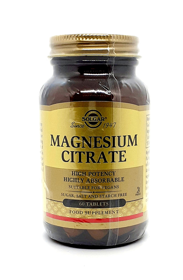 Solgar Magnesium citrate high potency 60 tablets