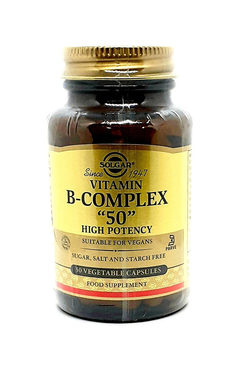 "Solgar vitamin B-complex ""50"" high potency 50 vegetable capsules"