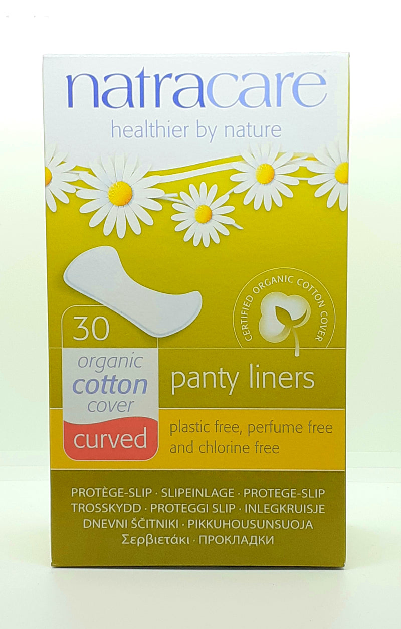 Natracare organic cotton cover curved panty liners