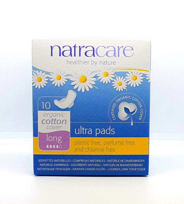 Natracare organic cotton cover long ultra pads