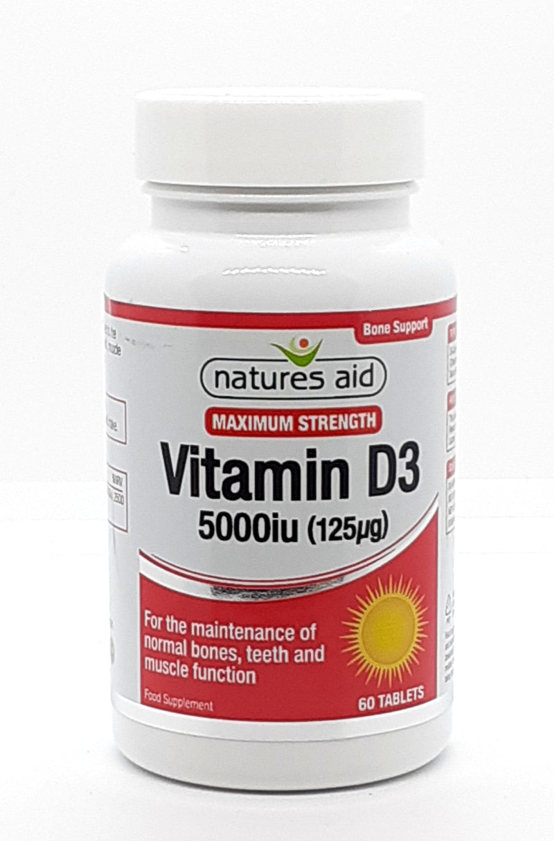Natures aid Vitamin D3 5000iu (125mcg) 60 tablets