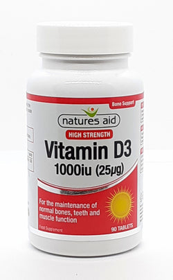 Natures aid Vitamin D3 1000iu (25mcg) 90 tablets