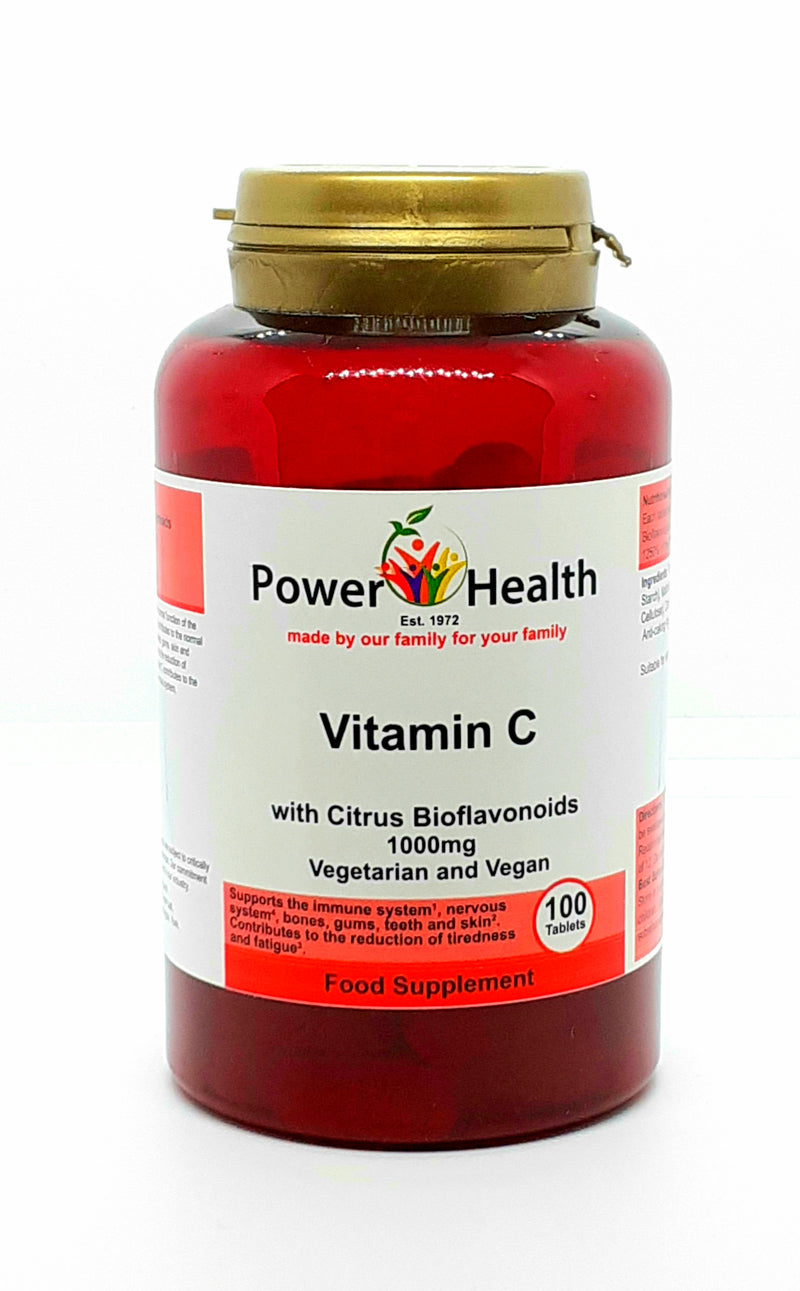 Power health Vitamin C with bioflavonoids 1000mg 100 tablets vegan