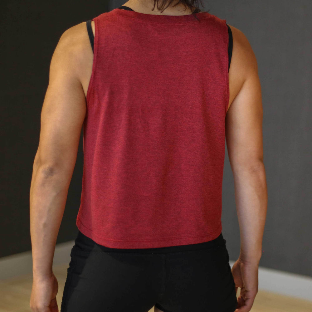 Pace Muscle Tank - Brick Red