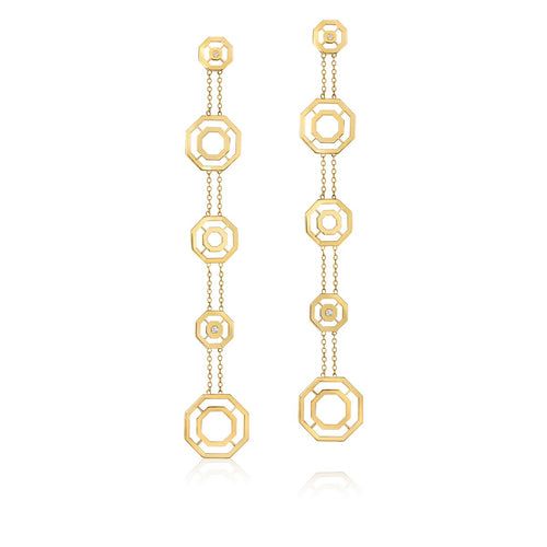 Hexagon Shoulder Dusters Earrings