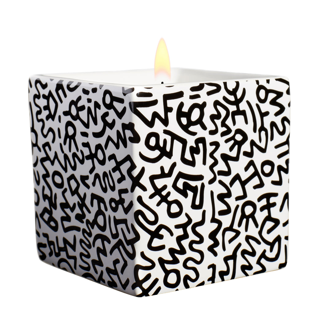 Black Pattern Square Candle