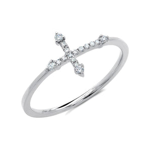 0.09CT 14K Y/G Diamond Cross Ring All of our designs are handmade and slight variations may exist. All Shy Creation items are hand set and all stones are natural and hand-picked. Each piece is unique and you can expect slight variations in the shade, hue, and tint of the color stones.