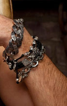 Load image into Gallery viewer, Leather Bracelet w/Small Dragon Clasp