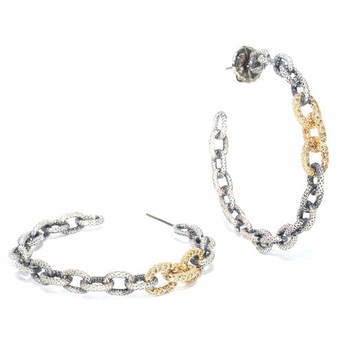 Triple Pave Link Hoops